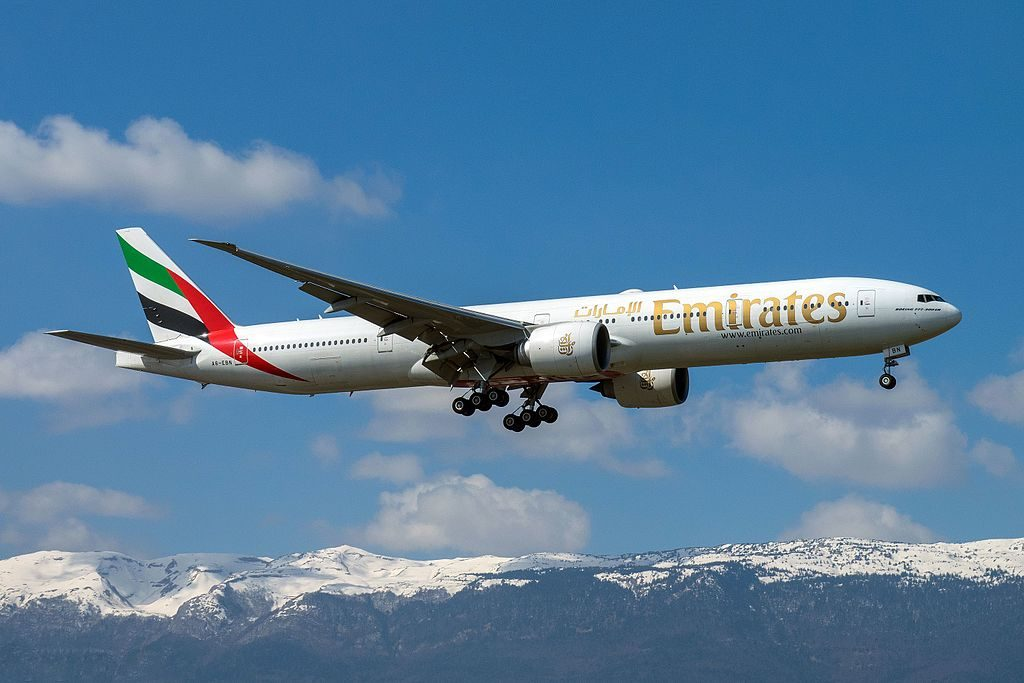 A6 EBN Boeing 777 300ER of Emirates at Geneva International Airport