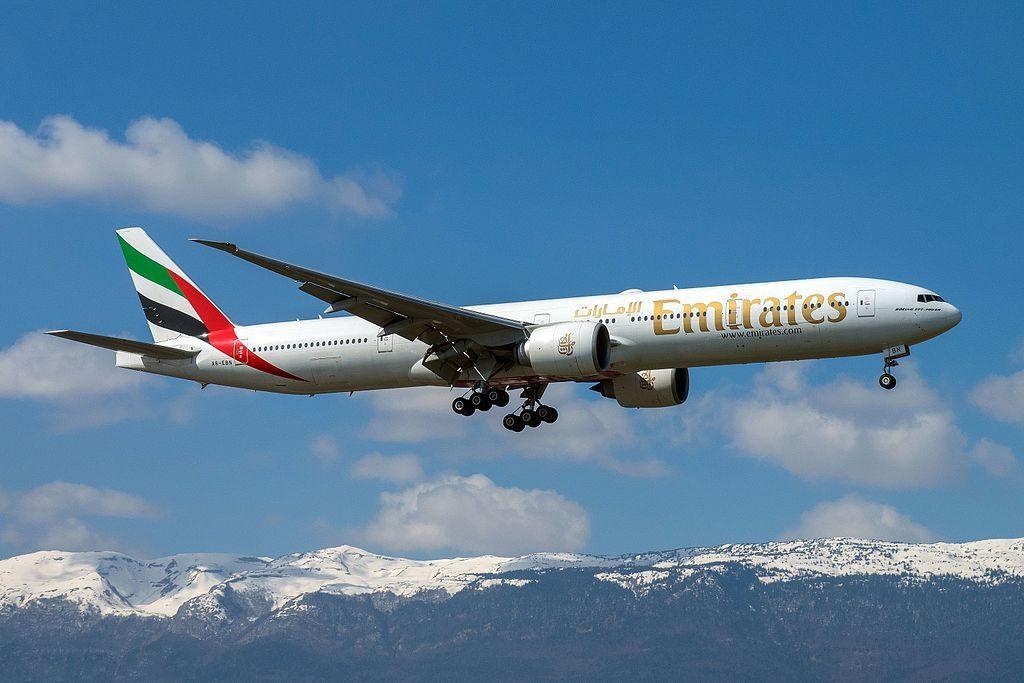 A6 EBN Boeing 777 300ER of Emirates at Geneva International Airport