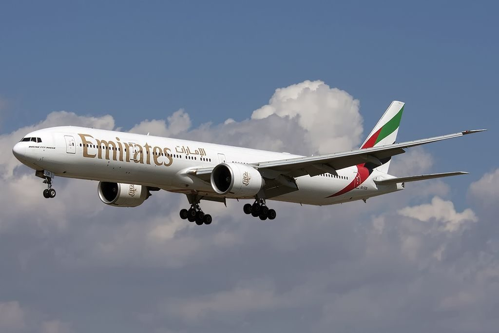 A6 ECB Boeing 777 31HER Emirates at Barcelona El Prat LEBL Spain