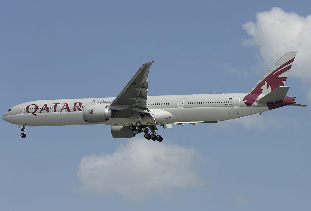 A7 BAO Boeing 777 3DZER Qatar Airways at Singapore Changi Airport