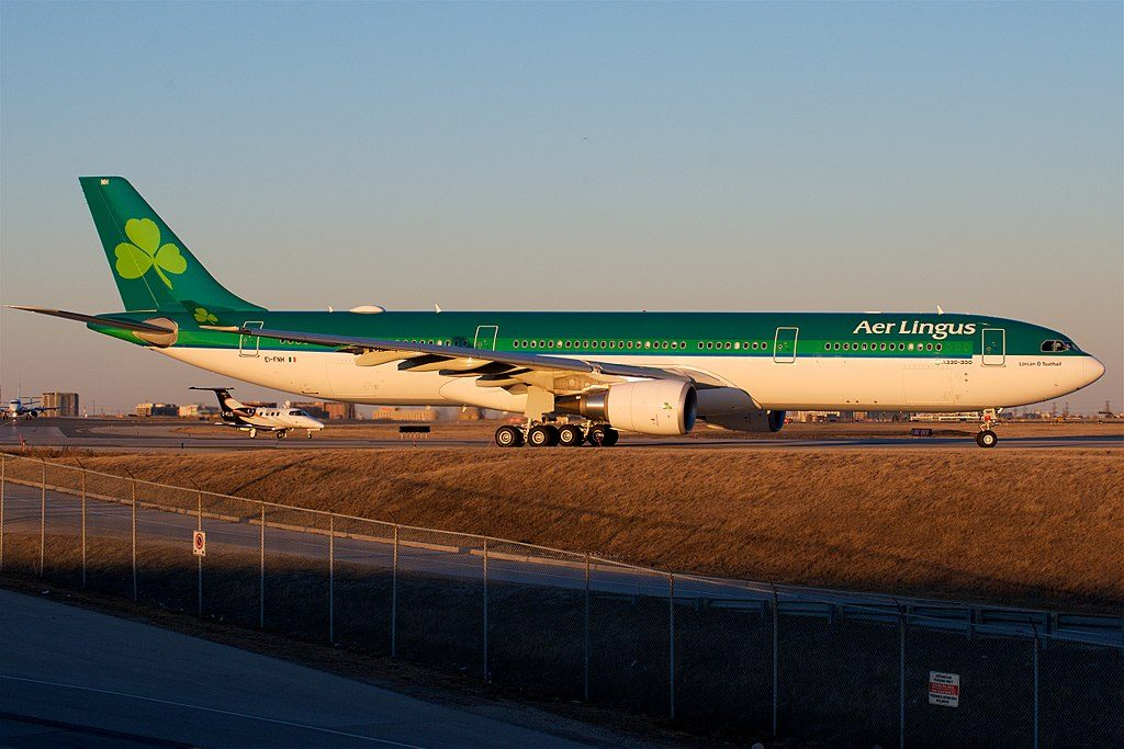 Aer Lingus A330 300 EI FNH St Laurence O'Toole Lorcan O Tuathail at Toronto Pearson International Airport