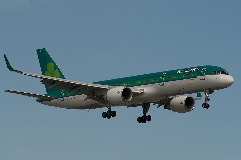 Aer Lingus ASL Airlines Ireland Boeing 757 200 EI LBS St Columbanus Columbán at Toronto Pearson International Airport