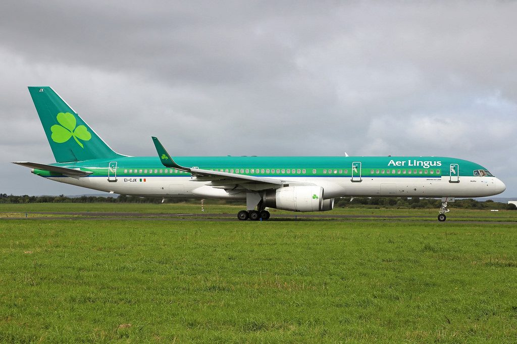 Aer Lingus ASL Airlines Ireland Boeing 757 2Y0 EI CJX St. Boice Buithe at Shannon Airport