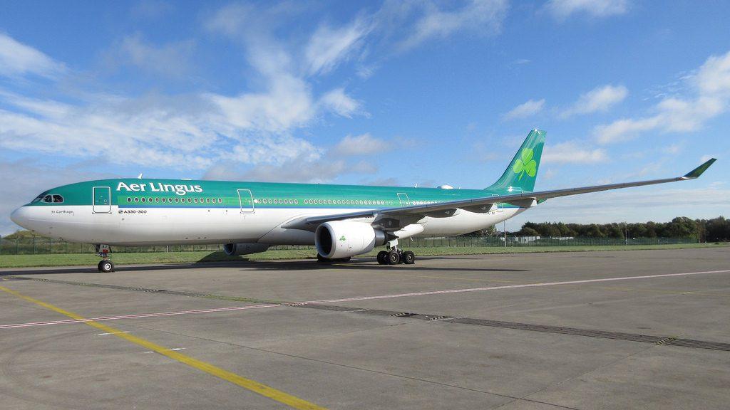 Aer Lingus Airbus A330 300 EI GAJ St Carthage Mochuta at Dublin Airport
