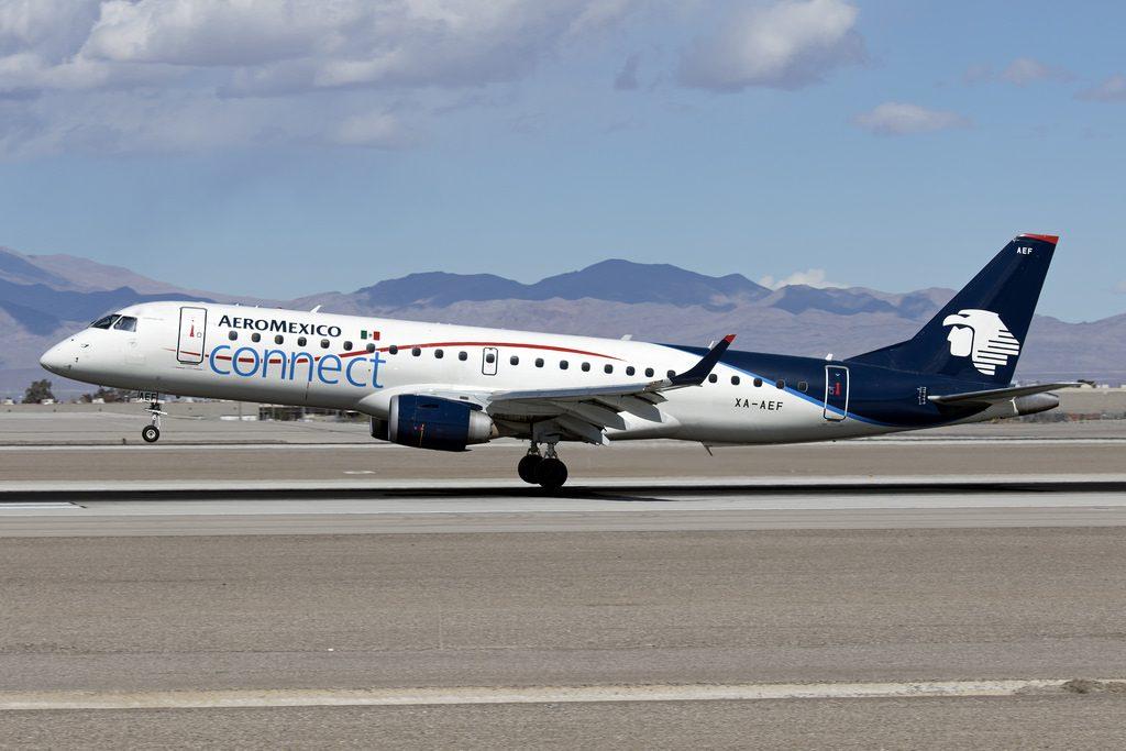 Aeromexico Embraer ERJ 190AR XA AEF at LAS Airport