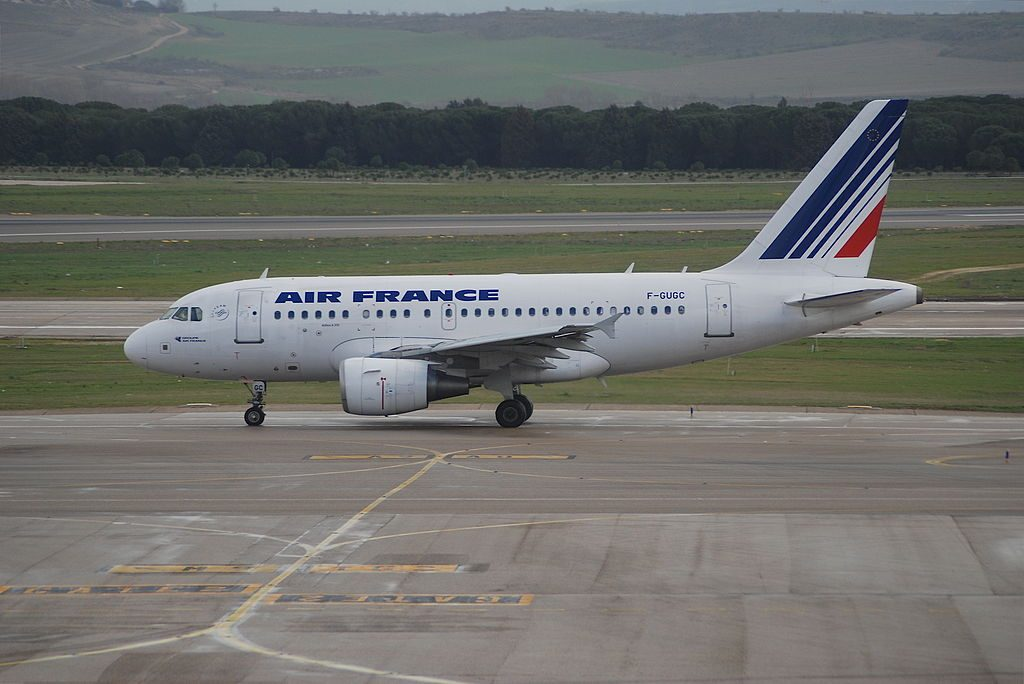 Air France Airbus A318 100 F GUGC at Madrid Barajas Airport