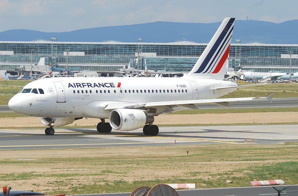 Air France Airbus A318 111 F GUGI at Frankfurt Airport