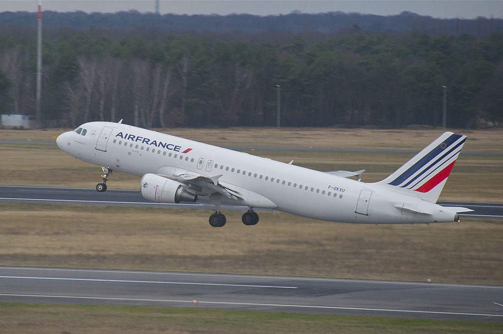 Air France Airbus A320 214 F GKXU at Berlin Tegel Airport TXL
