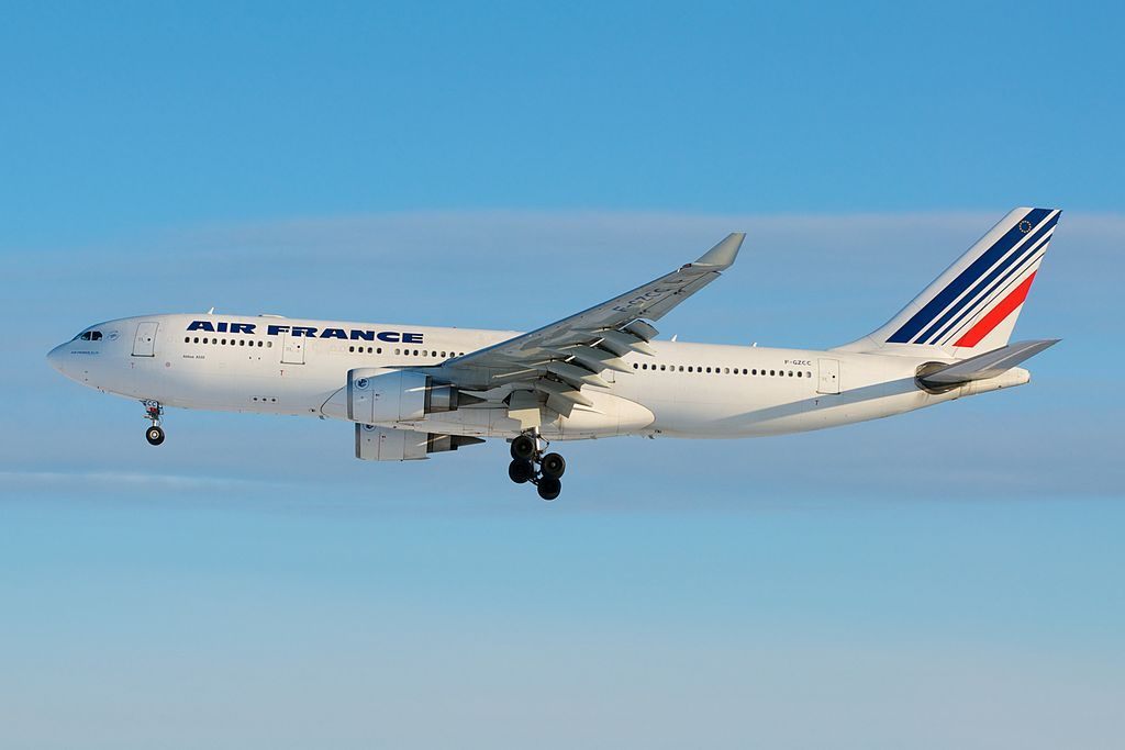 Air France Airbus A330 200 F GZCC on close final Runway 5 Toronto Pearson