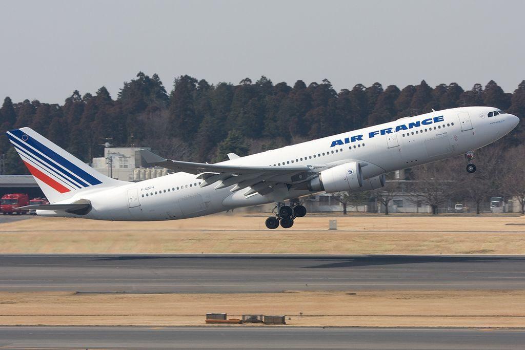 Air France Airbus A330 200 F GZCH departing Tokyo Narita Airport Japan
