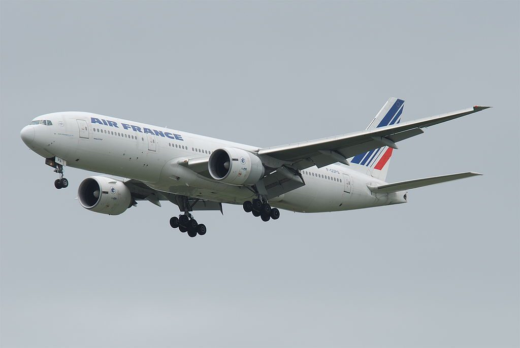Air France Boeing 777 200ER F GSPA on final at at Suvarnabhumi International Airport BKK
