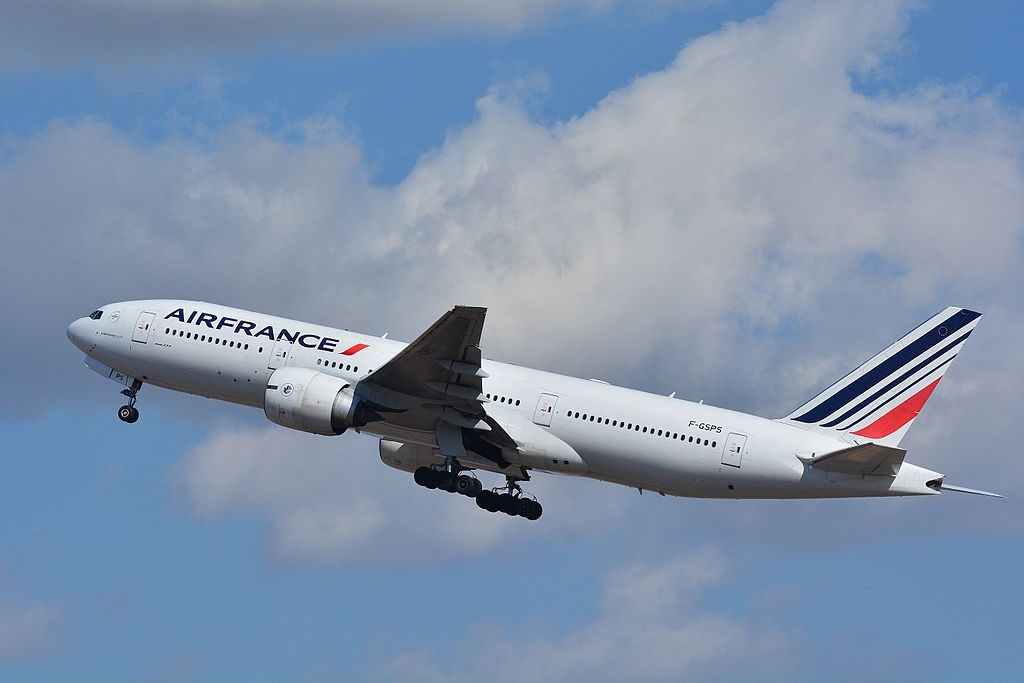Air France Boeing 777 200ER F GSPS departing at Narita International Airport NRT