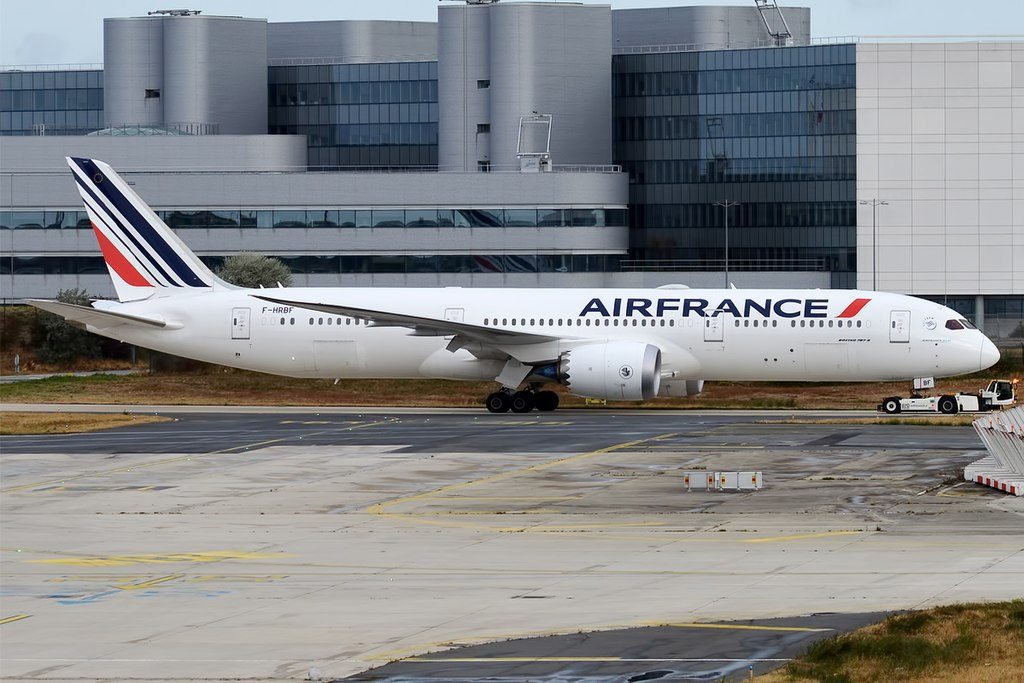 Air France F HRBF Boeing 787 9 Dreamliner at Paris Charles de Gaulle Airport