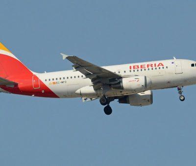 Airbus A319 113 EC MFO Iberia at Madrid Barajas Airport