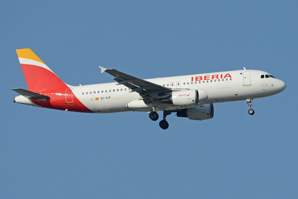 Airbus A320 214 EC ILR San Juan de la Peña Iberia at Madrid Barajas Airport