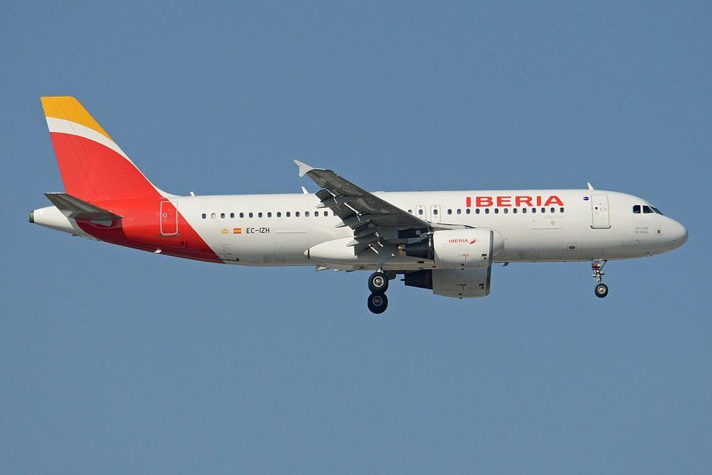 Airbus A320 214 EC IZH San Pedro de Roda Iberia at Madrid Barajas Airport