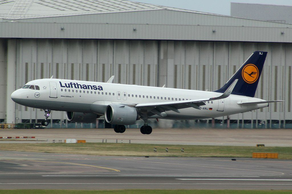 Airbus A320 271neo Lufthansa D AINJ at London Heathrow Airport