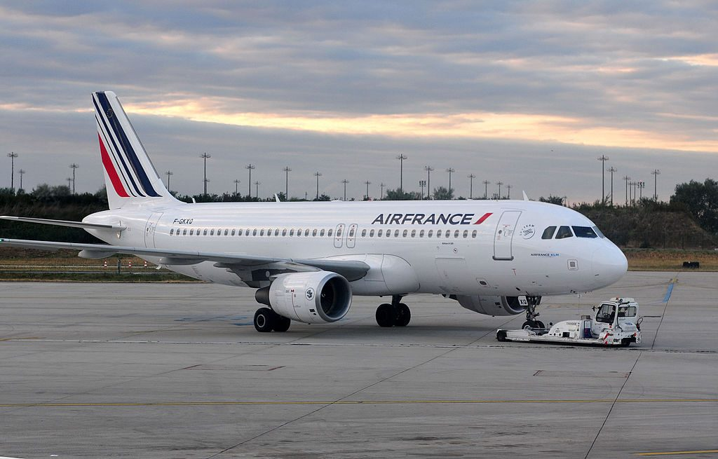 Airbus A320 Air France F GKXQ in Paris CDG