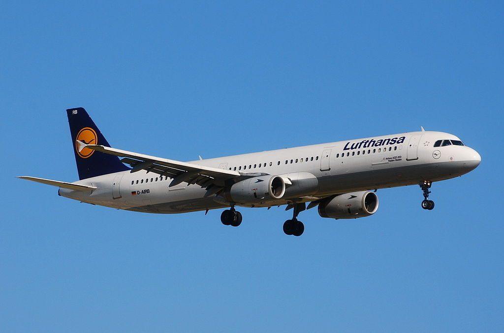 Airbus A321 100 Lufthansa D AIRB Baden Baden at Barcelona El Prat Airport LEBL