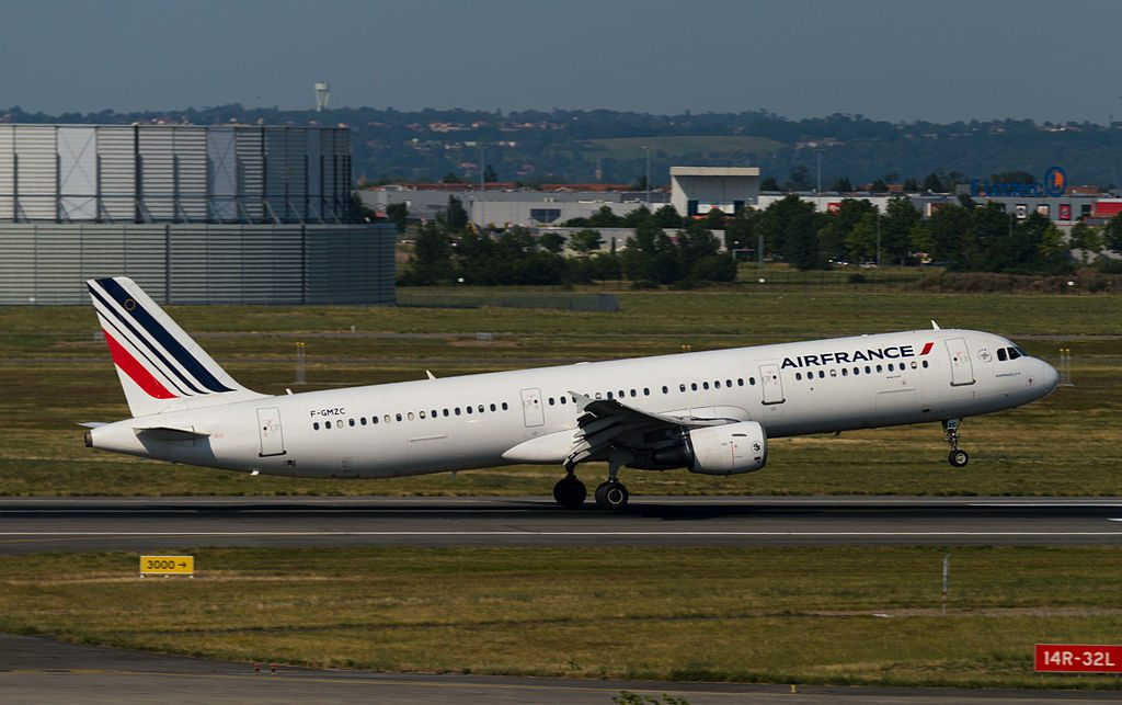 Airbus A321 100 of Air France F GMZC at Toulouse Blagnac International Airport