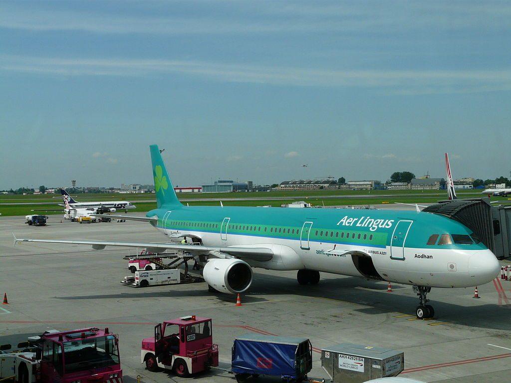 Airbus A321 200 Aer Lingus EI CPG St Aidan Aodhan at Warsaw Frederic Chopin Airport
