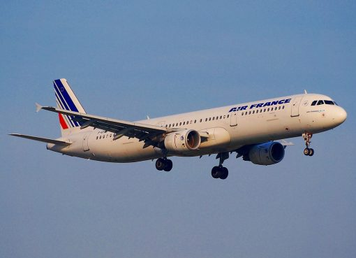 Airbus A321 200 Air France F GTAU on final before landing at Schiphol AMS EHAM