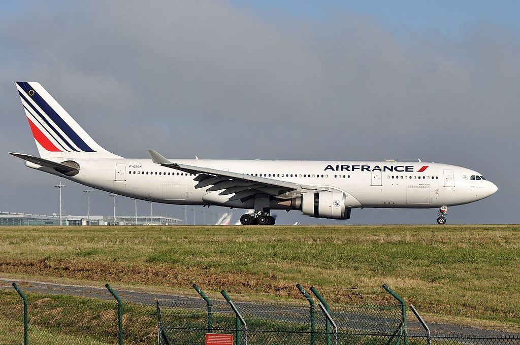 Airbus A330 200 Air France F GZCK arrival at CDG Airport