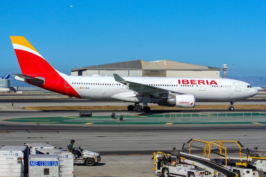Airbus A330 202 Iberia EC MLB Iberoamérica at San Francisco International Airport