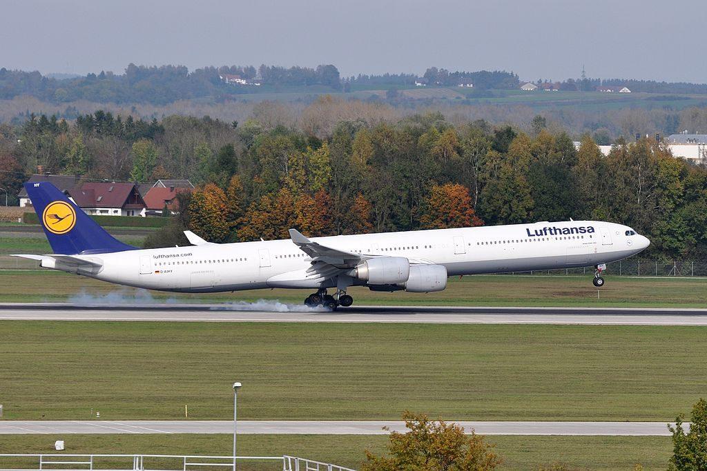 Airbus A340 600 Lufthansa F WWCQ MSN 987 D AIHY at Munich Airport