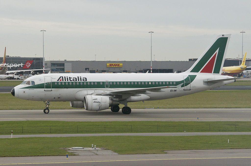Alitalia Airbus A319 112 EI IMI Isola di Ponza at Amsterdam Airport Schiphol