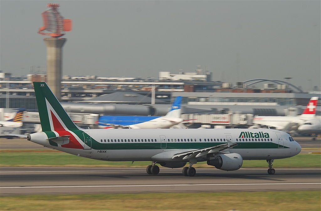 Alitalia Airbus A321 100 I BIXK Piazza Ducale VIGEVANO at London Heathrow Airport LHR