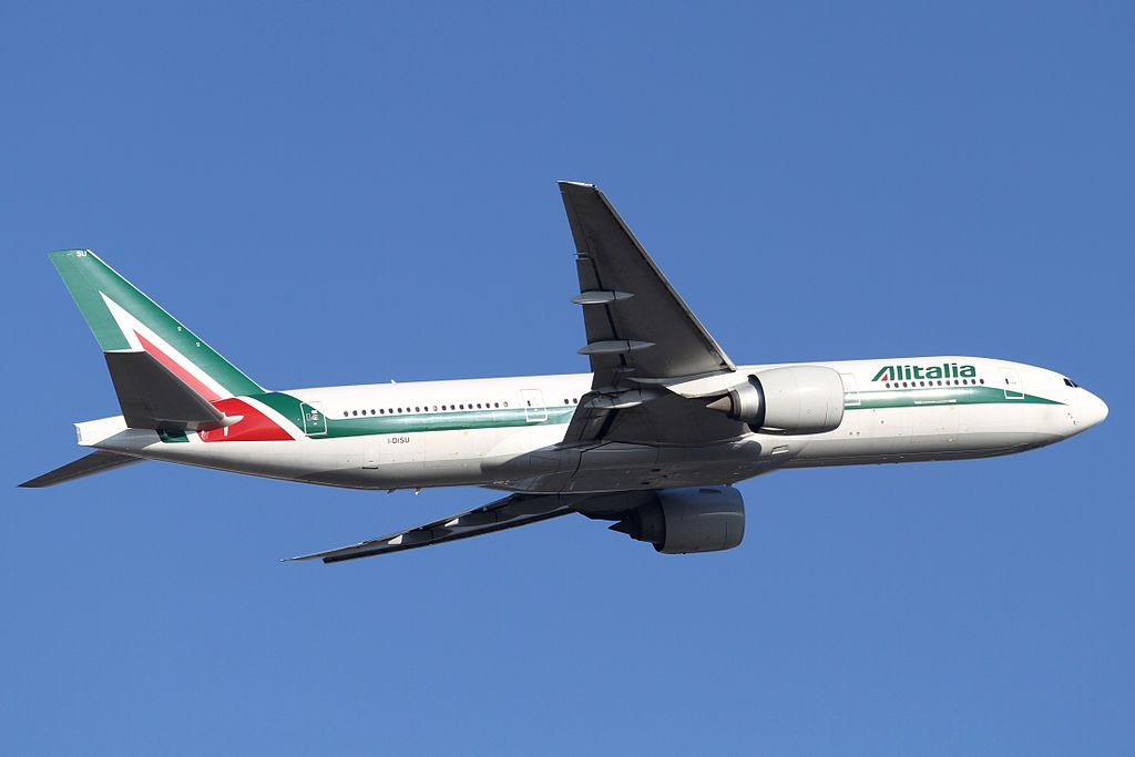 Alitalia Boeing 777 200ER I DISU at Narita International Airport