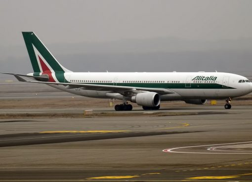 Alitalia EI EJH Airbus A330 202 Sandro Botticelli at Milan Malpensa Airport