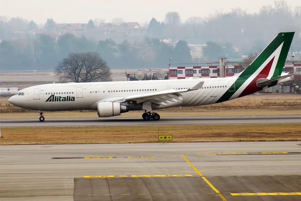 Alitalia EI EJI Airbus A330 202 Canaletto at Milan Malpensa Airport