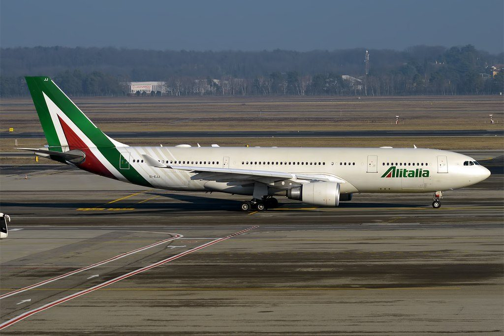 Alitalia EI EJJ Airbus A330 202 Michelangelo Merisi Da Caravaggio at Milan Malpensa Airport