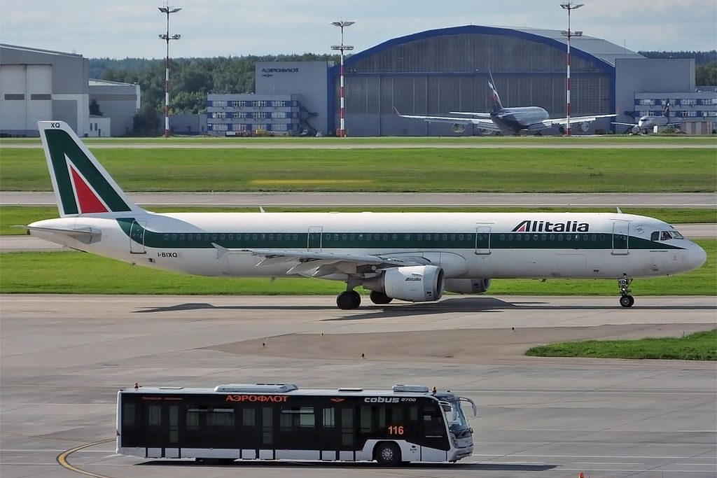 Alitalia I BIXQ Airbus A321 112 Domenico COLAPIETRO at Sheremetyevo International Airport