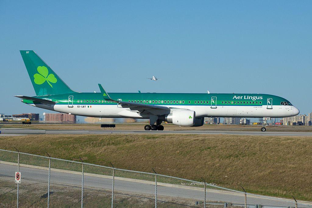 Are Lingus ASL Airlines Ireland Boeing 757 200 EI LBT St Brendan Breandan Departing Toronto Pearson YYZ