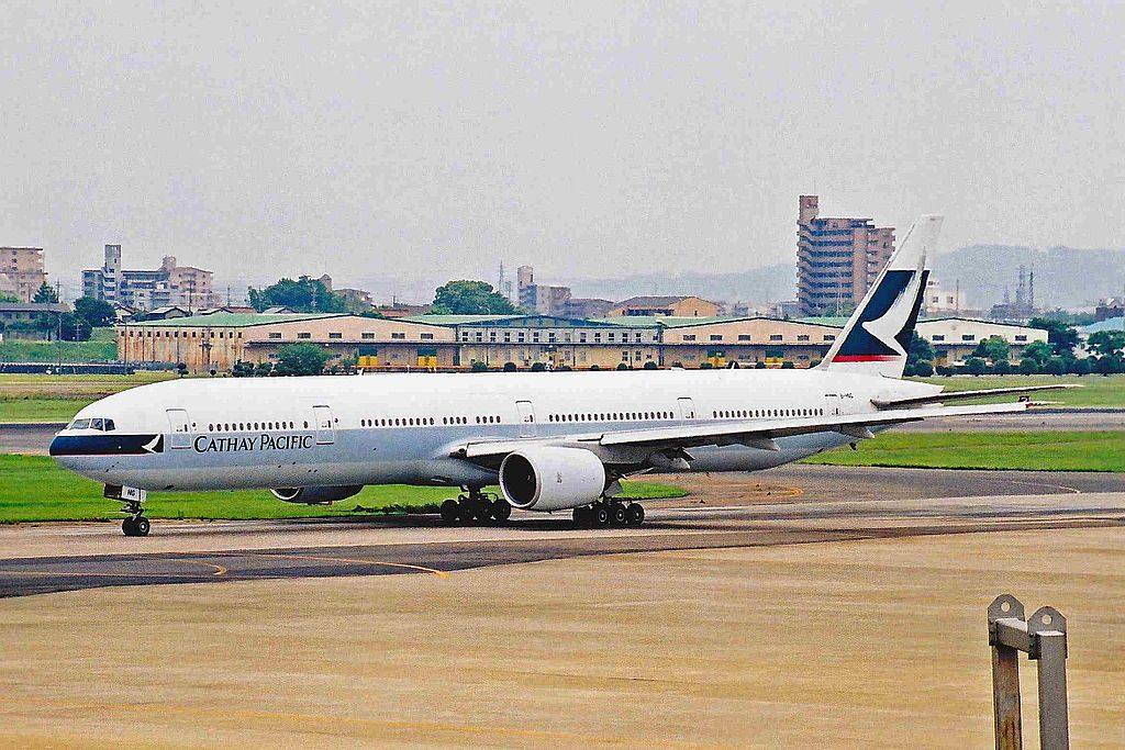B HNG B777 367 Cathay Pacific at at Nagoya Airport Japan