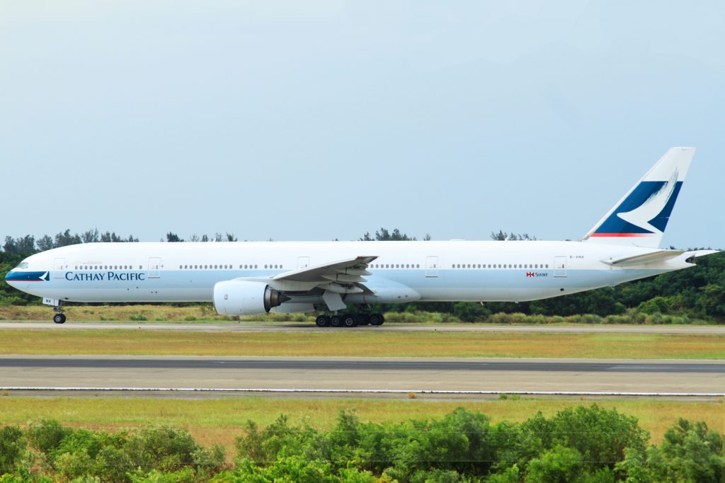 B HNU Boeing 777 300 Cathay Pacific ex Emirates Aircraft Photos