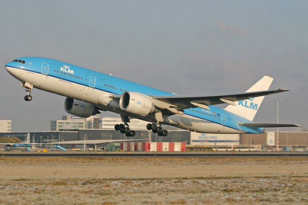 Boeing 777 206ER KLM Royal Dutch Airlines PH BQC Chichen Itza departing AMS Amsterdam Schiphol