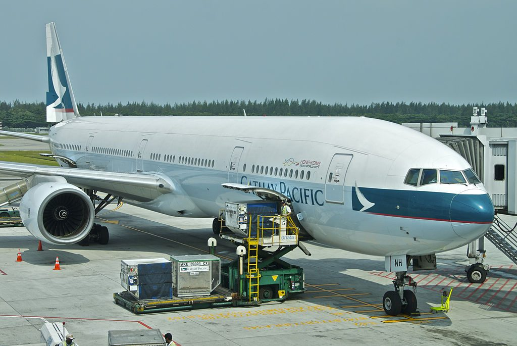 Boeing 777 300 B HNH Cathay Pacific at Singapore Changi Airport