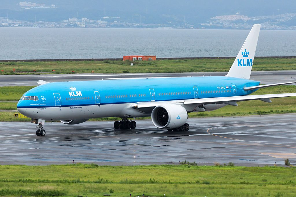 Boeing 777 306ER PH BVK KLM Yellowstone National Park Departed to Amsterdam Osaka Kansai Intl Airport