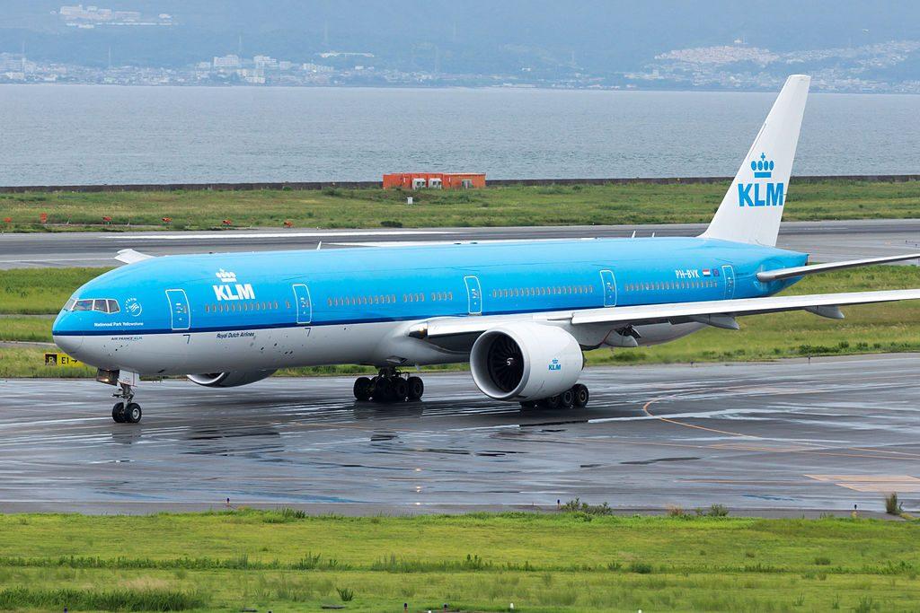 Boeing 777 306ER PH BVK KLM Yellowstone National Park Departed to Amsterdam Osaka Kansai Intl Airport