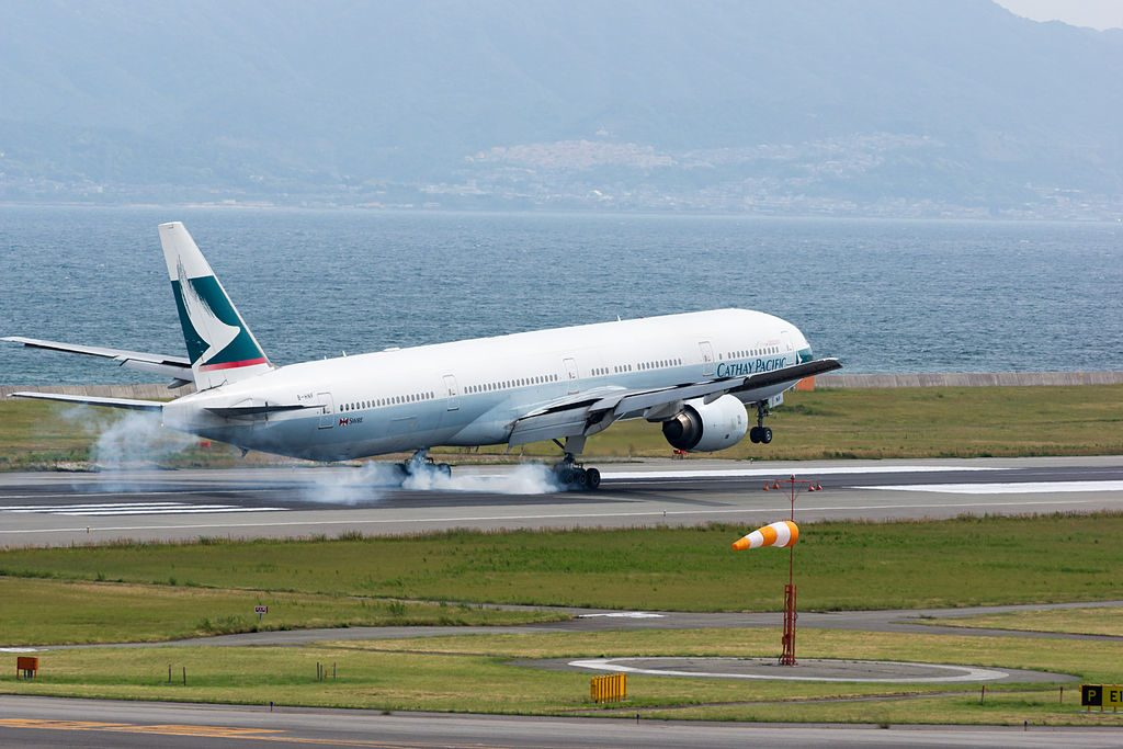 Boeing 777 367 B HNF CX506 Cathay Pacific Airways Arrived from Hong Kong at Osaka Kansai Intl Airport