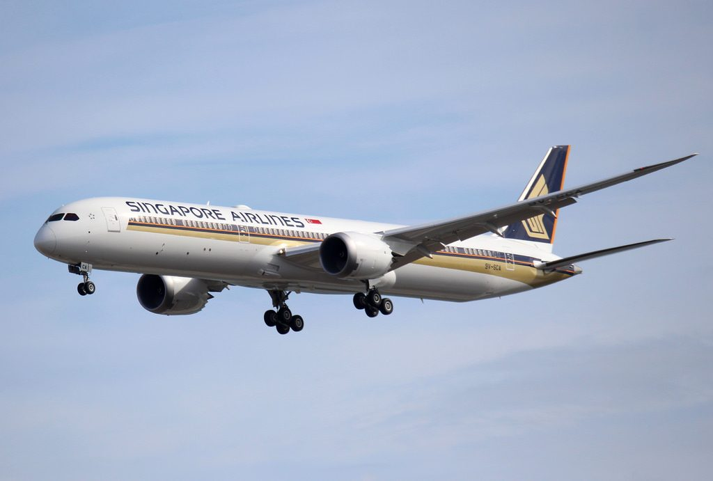 Boeing 787 10 Dreamliner Singapore Airlines 9V SCA at Myrtle Beach International Airport
