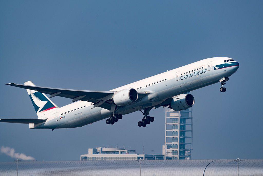 Cathay Pacific Boeing 777 367 B HNI at Kansai International Airport