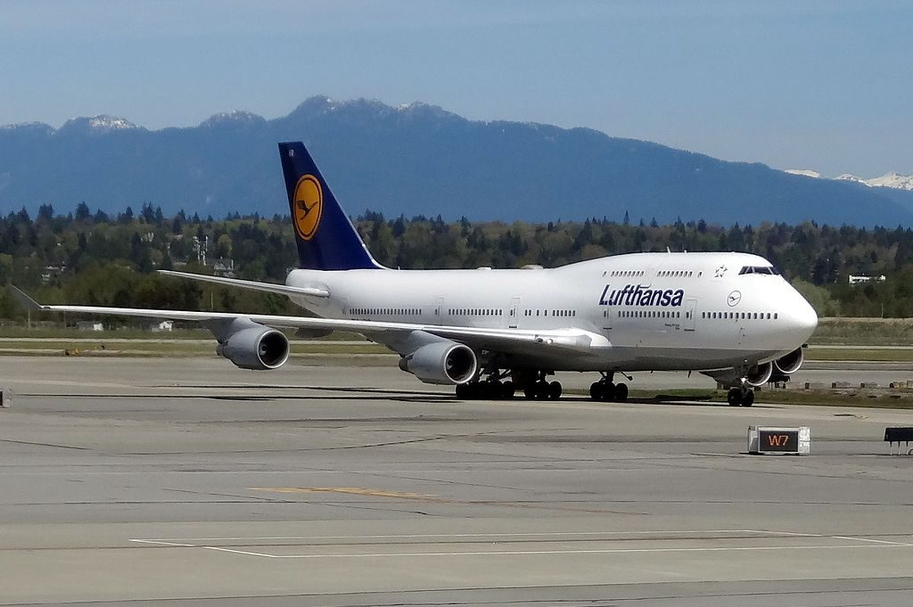 D ABVR Boeing 747 400 of Lufthansa at Vancouver International Airport