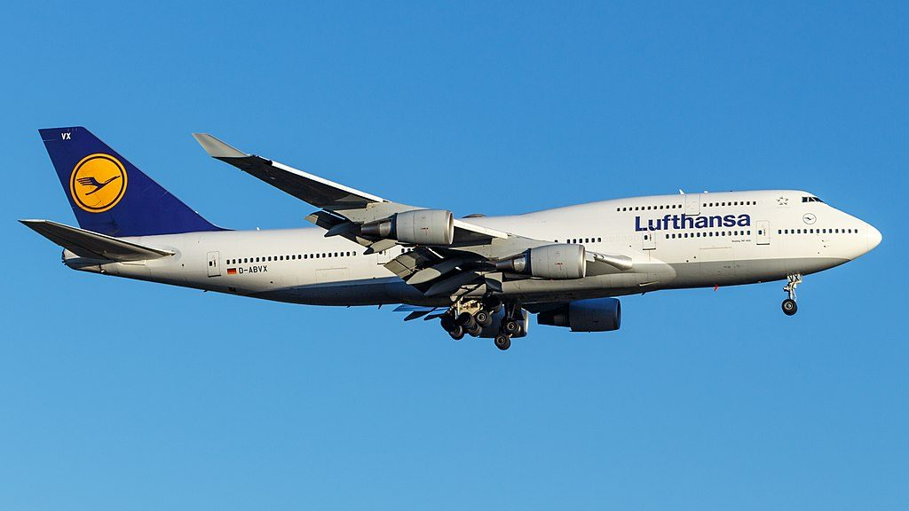 D ABVX Boeing 747 400 Lufthansa at London Heathrow Airport