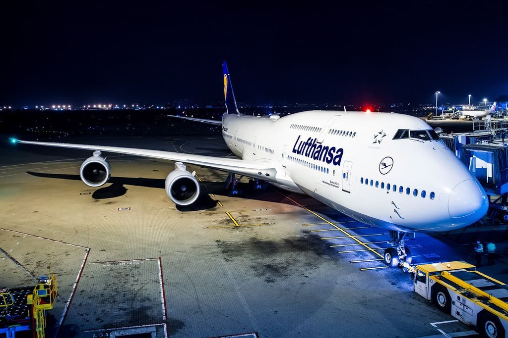 D ABYD Lufthansa Boeing 747 830 Mecklenburg Vorpommern at Beijing Capital Airport