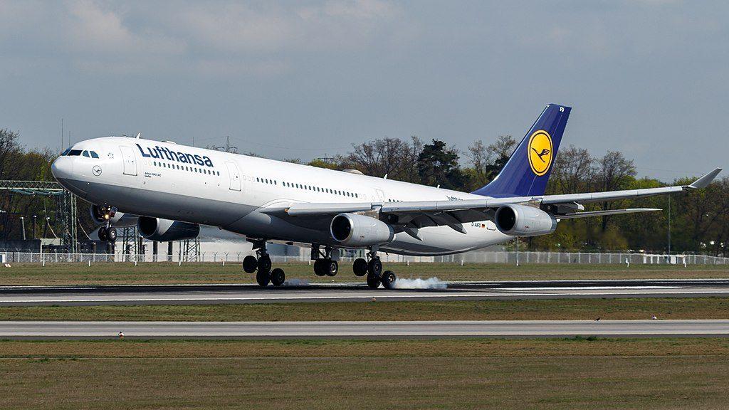 D AIFD Airbus A340 313 of Lufthansa Gießen at Frankfurt Airport